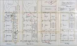 Rue de la Consolation 67, Schaerbeek, plans des quatre niveaux, ACS/Urb. 54-67 (1907).