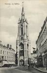 Grand-Place, Tournai, carte postale ancienne, marquise du n<sup>o</sup> 74 à droite (www.delcampe.be).