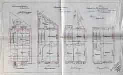 Chaussée de Haecht 384, Schaerbeek, plans des cinq niveaux, ACS/Urb. 125-384 (1908).