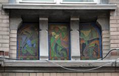 Rue Saint-Quentin 32, Bruxelles Extension Est, premier étage, allège droite (© APEB, photo 2015).