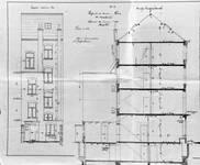 Chaussée de Louvain 332-334, Bruxelles Extension Est, élévation arrière et coupe longitudinale, AVB/TP 14991 (1904).