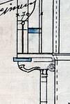Avenue Chazal 17, Schaerbeek, coupe longitudinale, détail, ACS/Urb. 46-25-27 (1913).