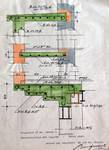 Avenue Chazal 27, Schaerbeek, reconstruction en dur de l'oriel, ACS/Urb. 46-25-27 (1942).