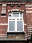 Boulevard des Déportés 32, Tournai, fenêtre de l'étage (© APEB, photo 2008).