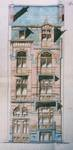 Avenue des Frères Haeghe 25, Tournai, élévation avant, AET/Ville de Tournai/Voirie 16420/Plans 4422 (1905).