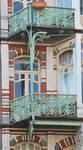 Avenue Paul Dejaer 9, Saint-Gilles, premier et deuxième étages, balcons (© APEB, photo 2016).