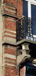 Chaussée de Louvain 229, Saint-Josse-ten-Noode, deuxième étage, console gauche du balcon (© APEB, photo 2016).