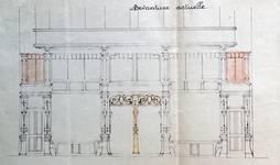 Rue Josaphat 247-253, Schaerbeek, projet de transformation du magasin, état projeté, ACS/Urb. 154-247-253 (1936).