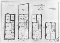 Chaussée de Louvain 332-334, Bruxelles Extension Est, plans des quatre niveaux, AVB/TP 14991 (1904).