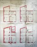 Rue Victor Lefèvre 55, Schaerbeek, plans des quatre niveaux, ACS/Urb. 279-55 (1909).