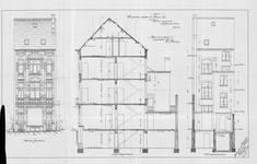 Chaussée de Louvain 235, Saint-Josse-ten-Noode, élévations avant et arrière et coupe longitudinale, ACSJ/Urb. 6050 (1901).