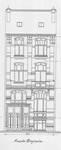 Rue Vanderhoeven 22, Saint-Josse-ten-Noode, élévation avant, ACSJ/Urb. 6792 (1904).