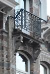 Rue Saint-Quentin 32, Bruxelles Extension Est, balcon de la lucarne (© APEB, photo 2015).