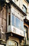 Boulevard des Déportés 34, Tournai, premier étage, travée droite, logette (© APEB, photo 2002).
