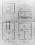 Avenue des Frères Haeghe 25, Tournai, plans de l'étage et des mansardes, plan et élévation de l'écurie, AET/Ville de Tournai/Voirie 16420/Plans 4422 (1905).