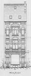 Chaussée de Louvain 235, Saint-Josse-ten-Noode, élévation avant, ACSJ/Urb. 6050 (1901).