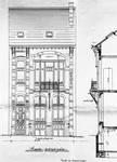 Rue Saint-Quentin 30, Bruxelles Extension Est, élévation avant, AVB/TP 21435 (1899).