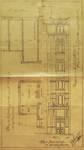Avenue Louis Bertrand 94-96, Schaerbeek, travée ajoutée rue de Jérusalem, plan, élévation et coupe, ACS/Urb. 176-94-96 (1912).