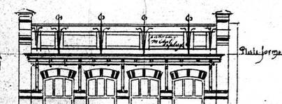 Chaussée de Wavre 580-582, Etterbeek, détail de l'élévation principale, ACEtt/TP 16559 (1904).