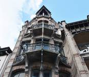 Boulevard Clovis 85-87, Bruxelles Extension Est, partie gauche, deuxième et troisième étages (© APEB, photo 2016).