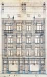 Rue des Coteaux 53-55 et 57-59, Schaerbeek, élévation, ACS/Urb. 58-53-59 (1907).