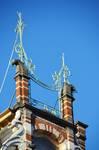 Paul Dejaerlaan 9, Sint-Gillis, pinakels van het dakvenster (© APEB, foto 2016).