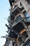 Boulevard Clovis 85-87, Bruxelles Extension Est, partie gauche, balcons des deuxième et troisième étages (© APEB, photo 2016).
