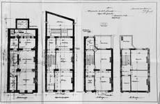 Rue Saint-Quentin 30, Bruxelles Extension Est, plans des quatre niveaux, AVB/TP 21435 (1899).