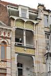 Avenue Louis Bertrand 63-65, Schaerbeek, troisième étage côté avenue, travée gauche, loggia (© APEB, photo 2012).