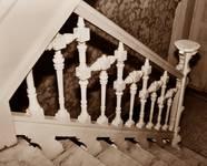 Rue de l'Abdication 4, Bruxelles Extension Est, rampe d'escalier (© APEB, photo 2002).