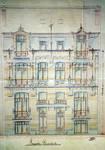 Boulevard des Déportés 30 et 32, Tournai, élévation avant, AET/Ville de Tournai/Voirie 19347/Plans 4895 (1907).