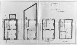 Rue des Éburons 31, Bruxelles Extension Est, plans des quatre niveaux, AVB/TP 10396 (1899).