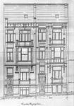 Rue des Aduatiques 11 et 9, Etterbeek, élévations, ACEtt/TP 18656 (1906).