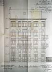 Avenue des Azalées 8-9, Schaerbeek, projet de transformations en 1921, élévation principale, architecte R. Serrure, ACS/Urb. 20-8-9 (1921).