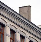 Jozef II-straat 148 en 150, Brussel Uitbreiding Oost, kroonlijst (© APEB, foto 2015).