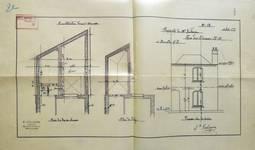 Rue des Éburons 31, Bruxelles Extension Est, plans pour la construction d'une annexe, AVB/TP 10396 (1899).