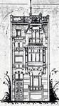 Rue de l'Abdication 4, Bruxelles Extension Est, élévation avant, AVB/TP 6386 (1902).