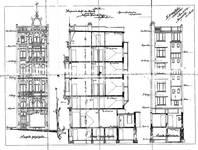 Avenue Paul Dejaer 9, Saint-Gilles, élévations et coupe, ACSG/Urb. 58 (1902).