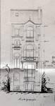 Rue Van Campenhout 51, Bruxelles Extension Est, élévation avant, AVB/TP 2018 (1901).