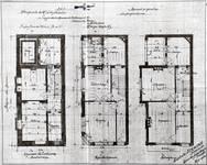 Chaussée de Wavre 580-582, Etterbeek, plans des quatre niveaux, ACEtt/TP 16559 (1904).