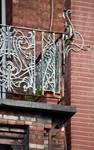 Leuvensesteenweg 231, Sint-Joost-ten-Node, tweede verdieping, balkon van de erker (© APEB, foto 2016).