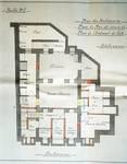 Avenue des Azalées 8-9, Schaerbeek, projet de transformations en 1921, plan du sous-sol, architecte R. Serrure, ACS/Urb. 20-8-9 (1921).