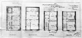 Rue de l'Abdication 4, Bruxelles Extension Est, plans des quatre niveaux, AVB/TP 6386 (1902).