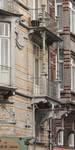 Avenue Louis Bertrand 63-65, Schaerbeek, balcons des deux premiers étages, côté rue Josaphat (© APEB, photo 2012).