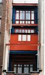 Rue Luther 28, Bruxelles Extension Est, façade arrière (© APEB, photo 1998).
