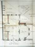 Avenue des Azalées 8-9, Schaerbeek, projet de transformations en 1921, plan du rez-de-chaussée, architecte R. Serrure, ACS/Urb. 20-8-9 (1921).