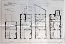 Rue Van Campenhout 51, Bruxelles Extension Est, plans des quatre niveaux, AVB/TP 2018 (1901).