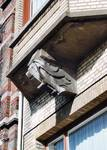 Avenue Van Cutsem 28, Tournai, étage, console de la logette (© APEB, photo 2002).
