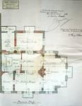 Avenue des Azalées 8-9, Schaerbeek, projet de transformations en 1921, plan du premier étage, architecte R. Serrure, ACS/Urb. 20-8-9 (1921).