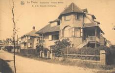 Hoge Duinenlaan 22 en 26, De Panne, Villa's 'Les Lauriers' en 'Maison Neuve' (© Verzameling postkaarten, Yves Dumont - ARCHYVES)